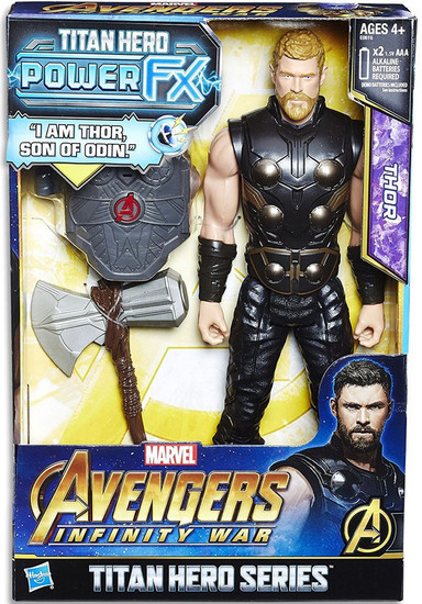 Marvel Avengers Infinity War Titan Hero Series Power FX Thor Action Figure