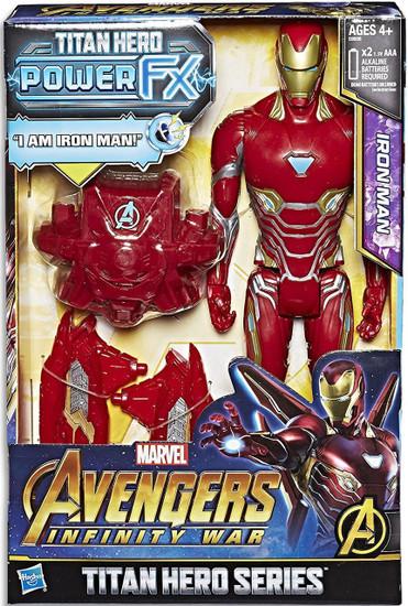 Marvel Avengers Infinity War Titan Hero Series Power FX Iron Man Action Figure