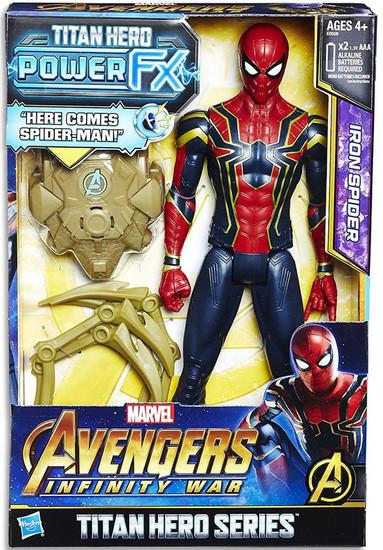 Marvel Avengers Infinity War Titan Hero Series Power FX Iron Spider Action Figure