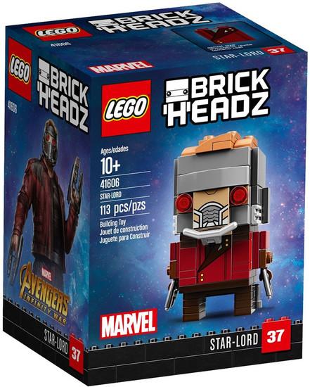 LEGO Marvel Avengers Infinity War Brick Headz Star-Lord Mini Set #41606