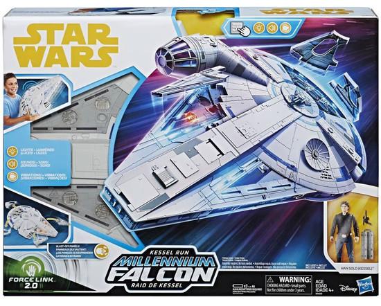 Star Wars Universe Force Link 2.0 Kessel Run Millennium Falcon Vehicle & Action Figure [Han Solo]