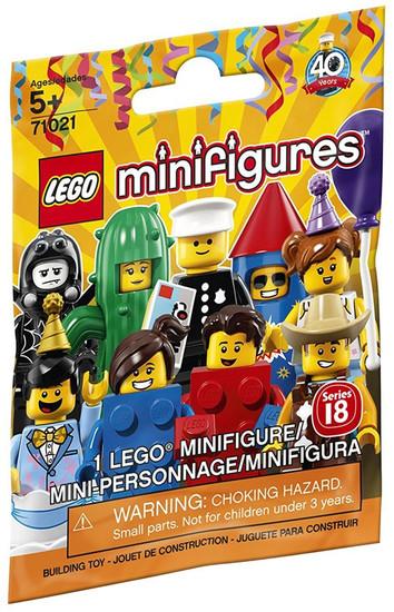 LEGO Minifigures Series 18 Mystery Pack [1 RANDOM Figure]