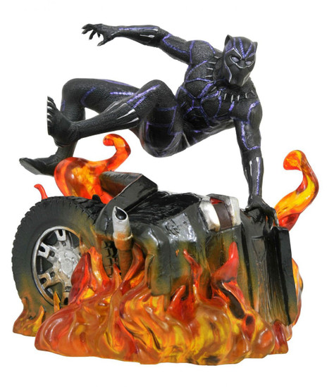 Marvel Gallery Black Panther 9-Inch PVC Figure Statue [Movie Version, Jumping]