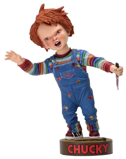NECA Child's Play Head Knocker Chucky with Knife 4-Inch Bobble Head