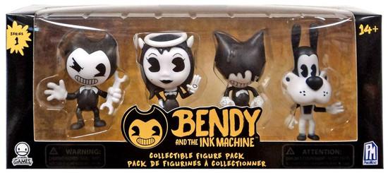 Bendy and the Ink Machine Series 1 Bendy, Alice, Ink Bendy & Boris Mini Figure 4-Pack