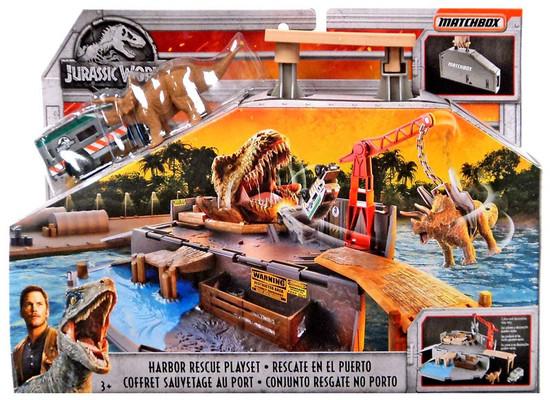 Jurassic World Matchbox Harbor Rescue Playset