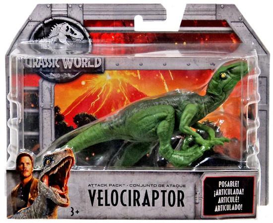 Jurassic World Fallen Kingdom Attack Pack Velociraptor Action Figure [Green]