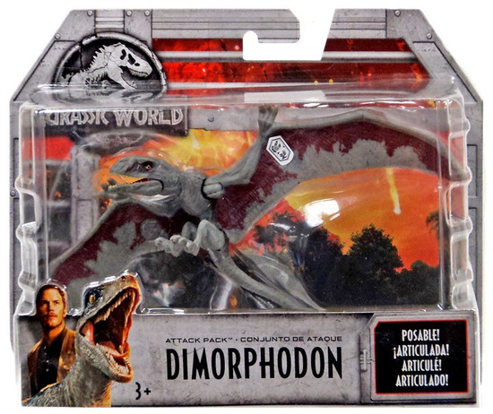 Jurassic World Fallen Kingdom Attack Pack Dimorphodon Action Figure [Gray & Red]