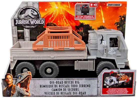 Jurassic World Matchbox Off-Road Rescue Rig 3.75-Inch Vehicle