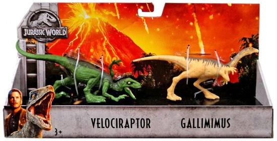 Jurassic World Fallen Kingdom Velociraptor & Gallimimus Action Figure