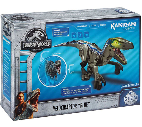 Jurassic World Kamigami STEM Velociraptor Blue Robot Figure [2.4 GHz]