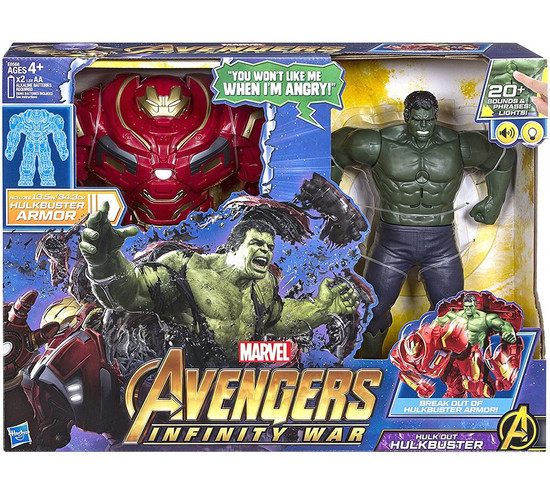 Marvel Avengers Infinity War Hulk Out Hulkbuster Deluxe Action Figure Set