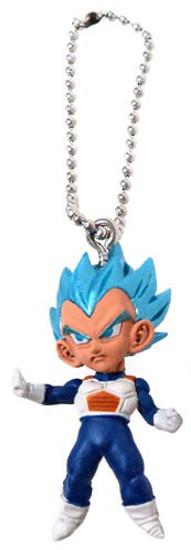 Dragon Ball Super UDM Burst 29 Super Saiyan Blue Vegeta 1.5-Inch Keychain Clip-On [Loose]