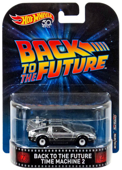 Back to the Future Hot Wheels Real Riders Delorean Time Machine With Mr. Fusion Die-Cast Car