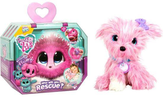 Little Live Pets Scruff A Luvs PINK Plush Surprise Rescue Pet