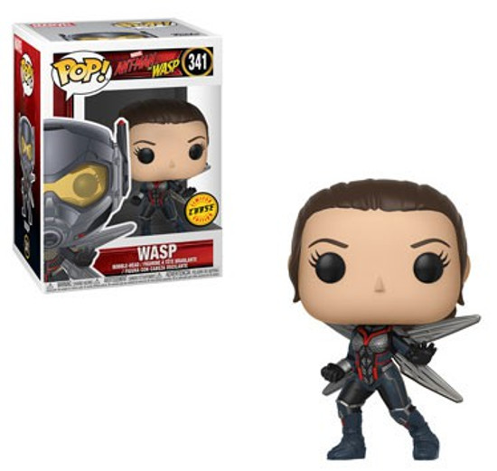 Funko Ant-Man and the Wasp POP! Marvel Wasp Vinyl Figure #341 [No Helmet, Chase Version]