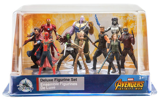 Disney Marvel Avengers Infinity War Exclusive 10-Piece Deluxe PVC Figure Playset