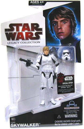 Star Wars A New Hope 2009 Legacy Collection Droid Factory Luke Skywalker Action Figure BD01 [Stormtrooper Disguise]