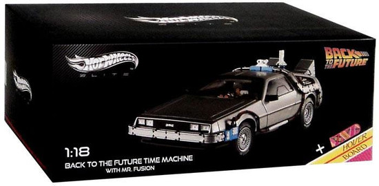 Hot Wheels Elite Back to the Future Time Machine With Mr. Fusion, Die-Cast Car [Open Package, Does Not Include Hover Board]