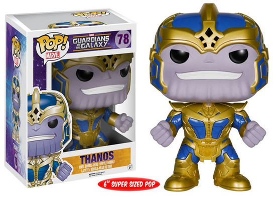 Funko Guardians of the Galaxy POP! Marvel Thanos 6-Inch Vinyl Bobble Head #78 [Super-Sized, Damaged Package]
