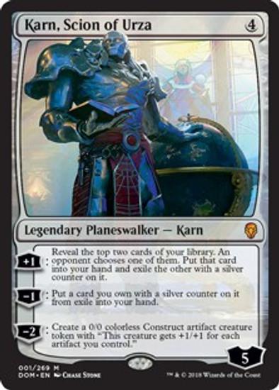 MtG Dominaria Mythic Rare Karn, Scion of Urza #1