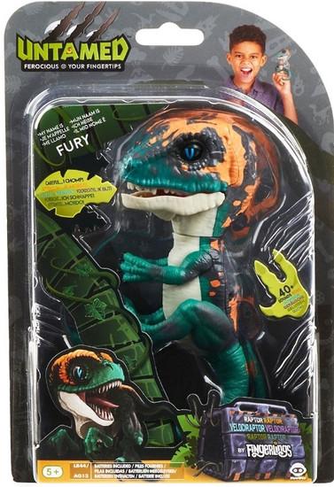 Fingerlings Untamed Dinosaur Fury the Velociraptor Figure [Greenish Blue]