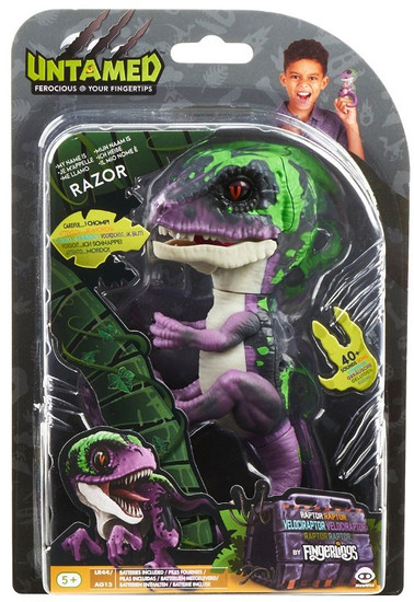 Fingerlings Untamed Dinosaur Razor the Velociraptor Figure [Purple]