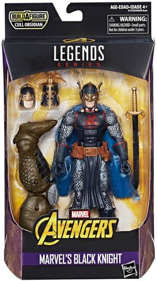 Avengers Marvel Legends Cull Obsidian Series Black Knight Action Figure