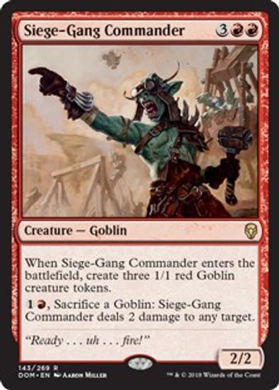 MtG Dominaria Rare Siege-Gang Commander #143