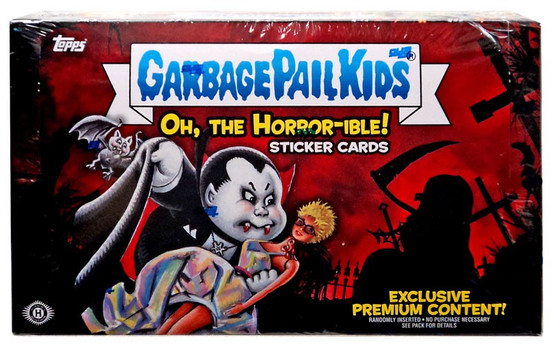 Garbage Pail Kids Topps 2018 Oh, The Horror-ible Trading Card Sticker COLLECTOR Edition HOBBY Box [24 Packs]