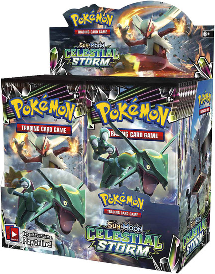 Pokemon Trading Card Game Sun & Moon Celestial Storm Booster Box [36 Packs]