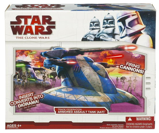 Star Wars The Clone Wars Battle Droid & AAT Trade Federation Tank Vehicle & Action Figure