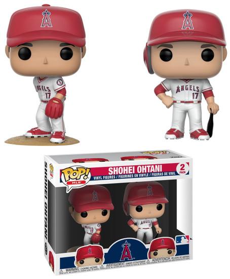 Funko MLB Los Angeles Angels POP! Sports Baseball Shohei Ohtani Vinyl Figure 2-Pack [White Jerseys]
