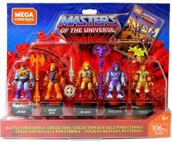 Mega Construx Masters of the Universe He-Man, Skeletor, Teela, Faker & Beast Man Mini Figure 5-Pack Set
