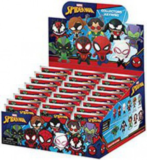 Marvel 3D Figural Keyring Spider-Man Classic Mystery Box [24 packs]