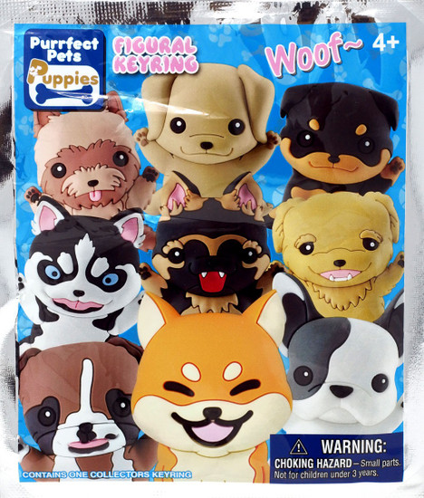Purrfect Pets 3D Figural Keyring Puppies Mystery Pack [1 RANDOM Figure]