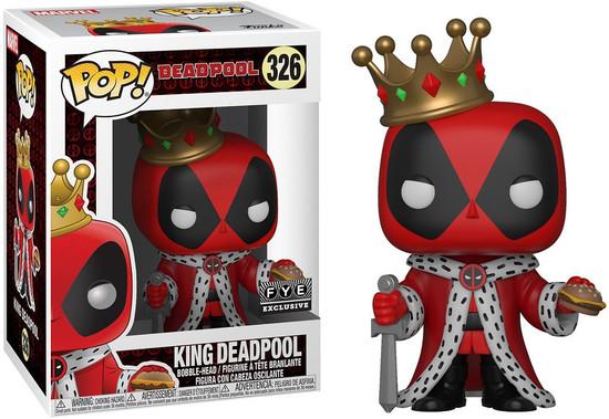 Funko POP! Marvel King Deadpool Exclusive Vinyl Bobble Head #326
