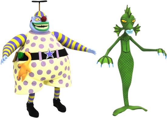 Nightmare Before Christmas Series 6 Clown & Undersea Gal Action Figure 2-Pack