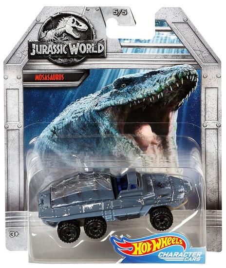 Jurassic World Hot Wheels Character Cars Mosasaurus Die Cast Car #5/5