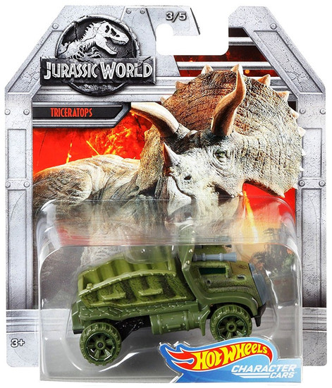 Jurassic World Hot Wheels Character Cars Triceratops Die Cast Car