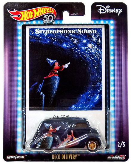 Disney Hot Wheels Fantasia Deco Delivery Die Cast Car #2/5