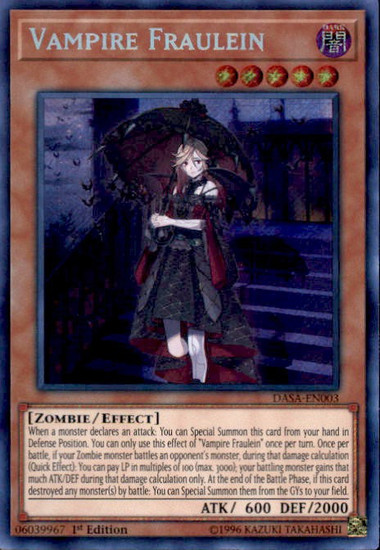 YuGiOh Dark Saviors Secret Rare Vampire Fraulein DASA-EN003