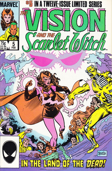 Marvel Comics Vol. 2 The Vision and The Scarlet Witch #5 Twelve Issue Limited Series Comic Book