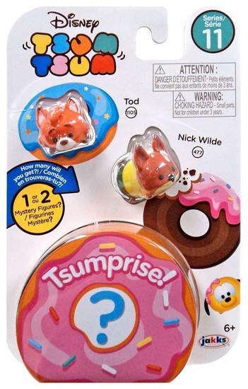 Disney Tsum Tsum Series 11 Tod & Nick Wilde 1-Inch Minifigure 3-Pack