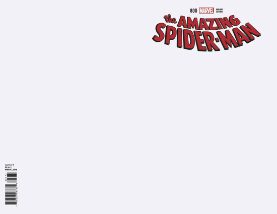 Marvel Comics Amazing Spider-Man #800 Comic Book [Blank Cover Variant]