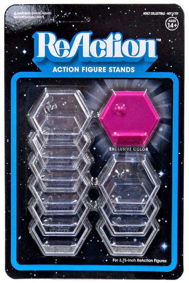 ReAction Inside Voice Action Figure Stand 10-Pack [Pink]