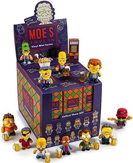 The Simpsons Vinyl Mini Figure Moe's Tavern 3-Inch Mystery Box [24 Packs]