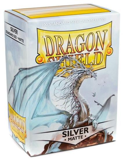 Card Supplies Dragon Shield Matte Silver Standard Card Sleeves [100 Count]