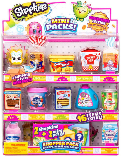 Shopkins Small Mart Season 10 Mini Packs! Shopper 8-Pack