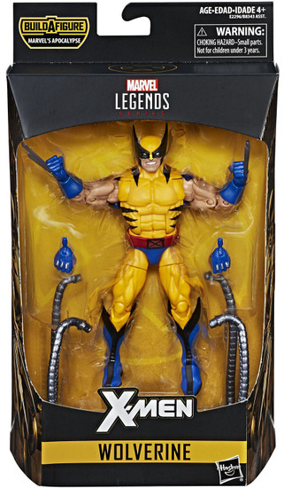X-Men Marvel Legends Apocalypse Series Wolverine Action Figure [Blue & Yellow Costume]